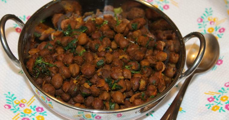 Brown Chickpeas Fry / Kala Channa Fry