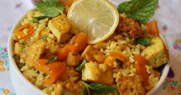 Tofu Garbanzo Beans/ Channa/ Chickpeas Rice