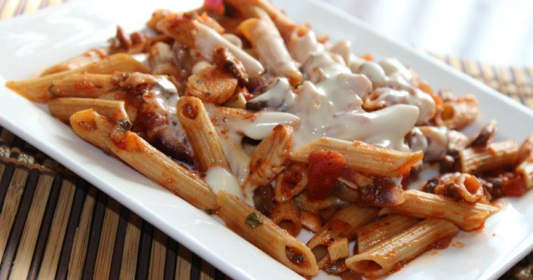 Whole Wheat Mushroom Chicken Pasta