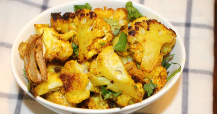 Roasted Cauliflower- Indian Style