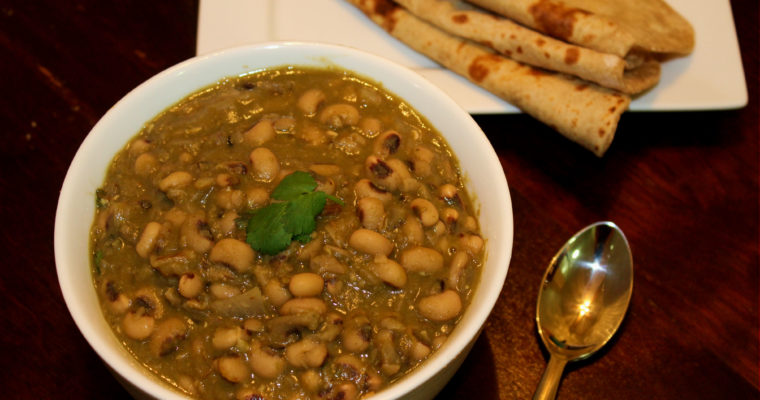 Black Eyed Beans Curry | Alasande kalu gojju