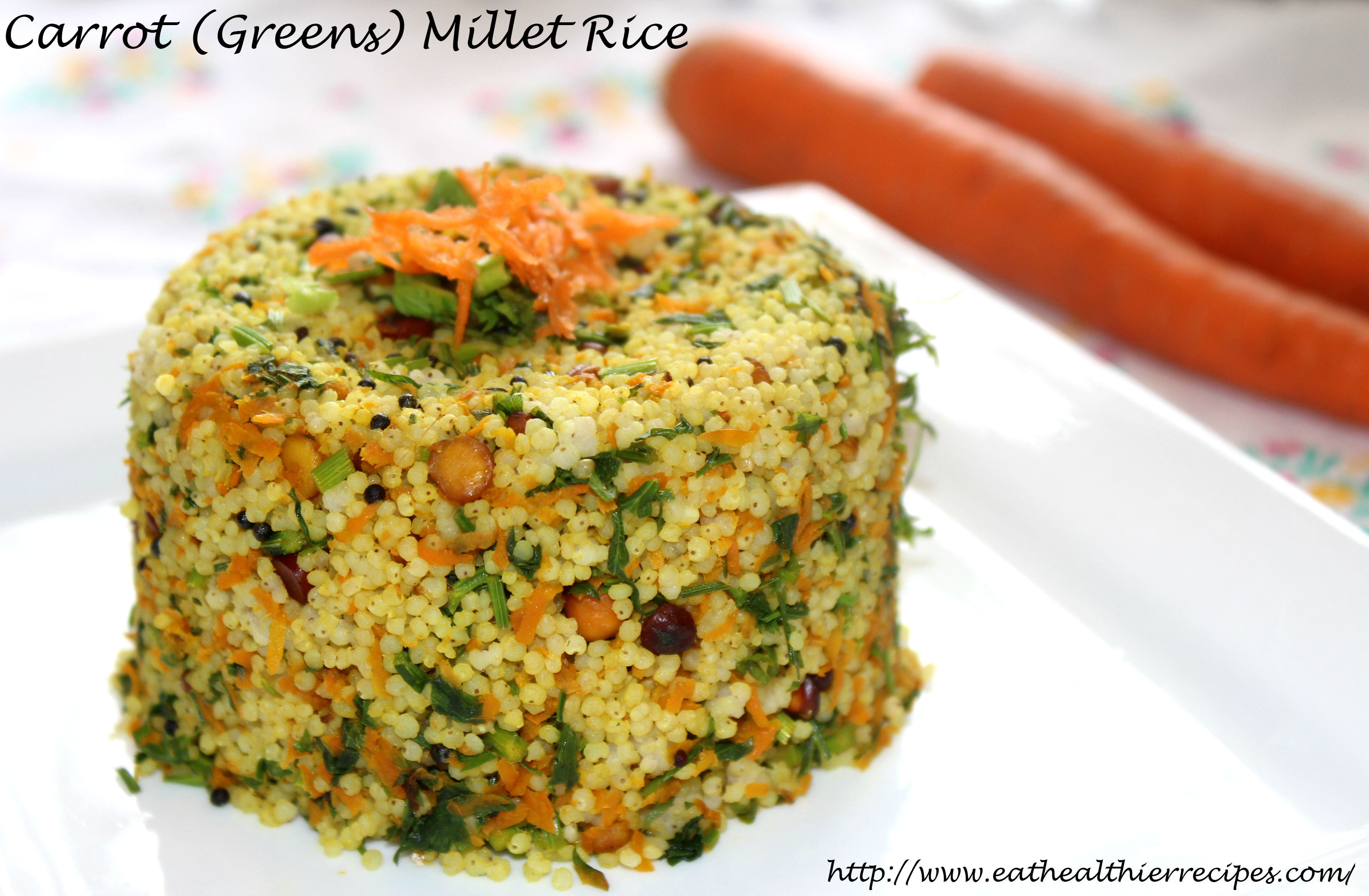 Carrot (Greens) Millet Rice