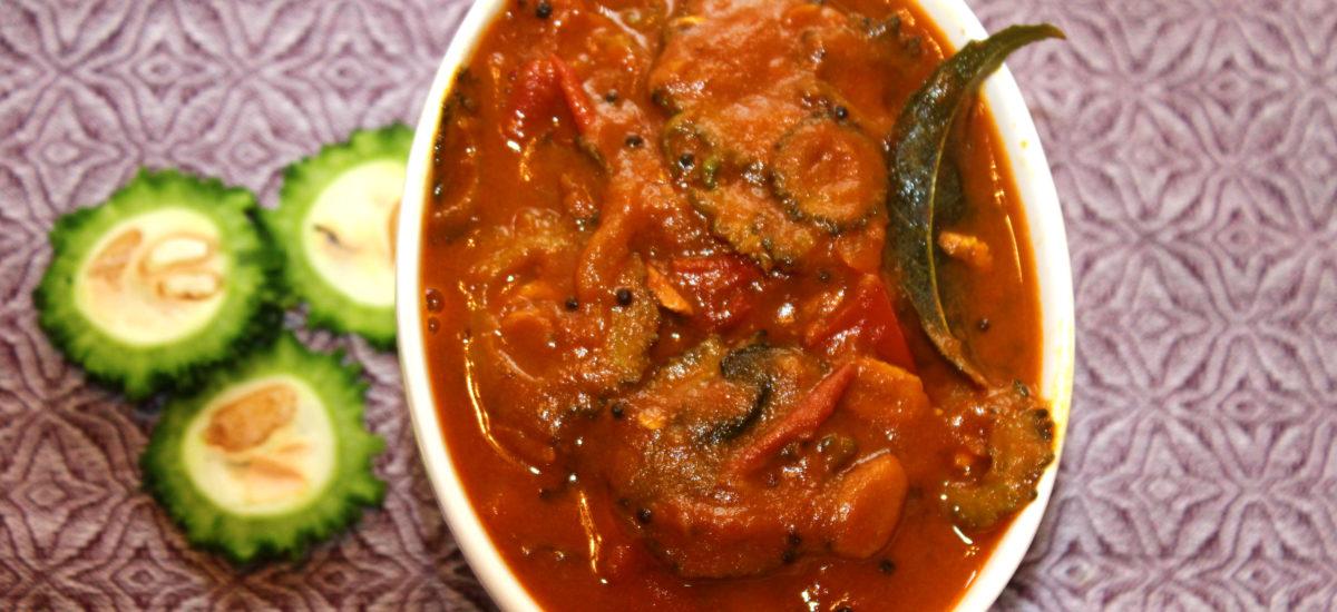 Bitter Gourd (Bitter less) Tamarind Curry | Pavakai Puli Kulambu